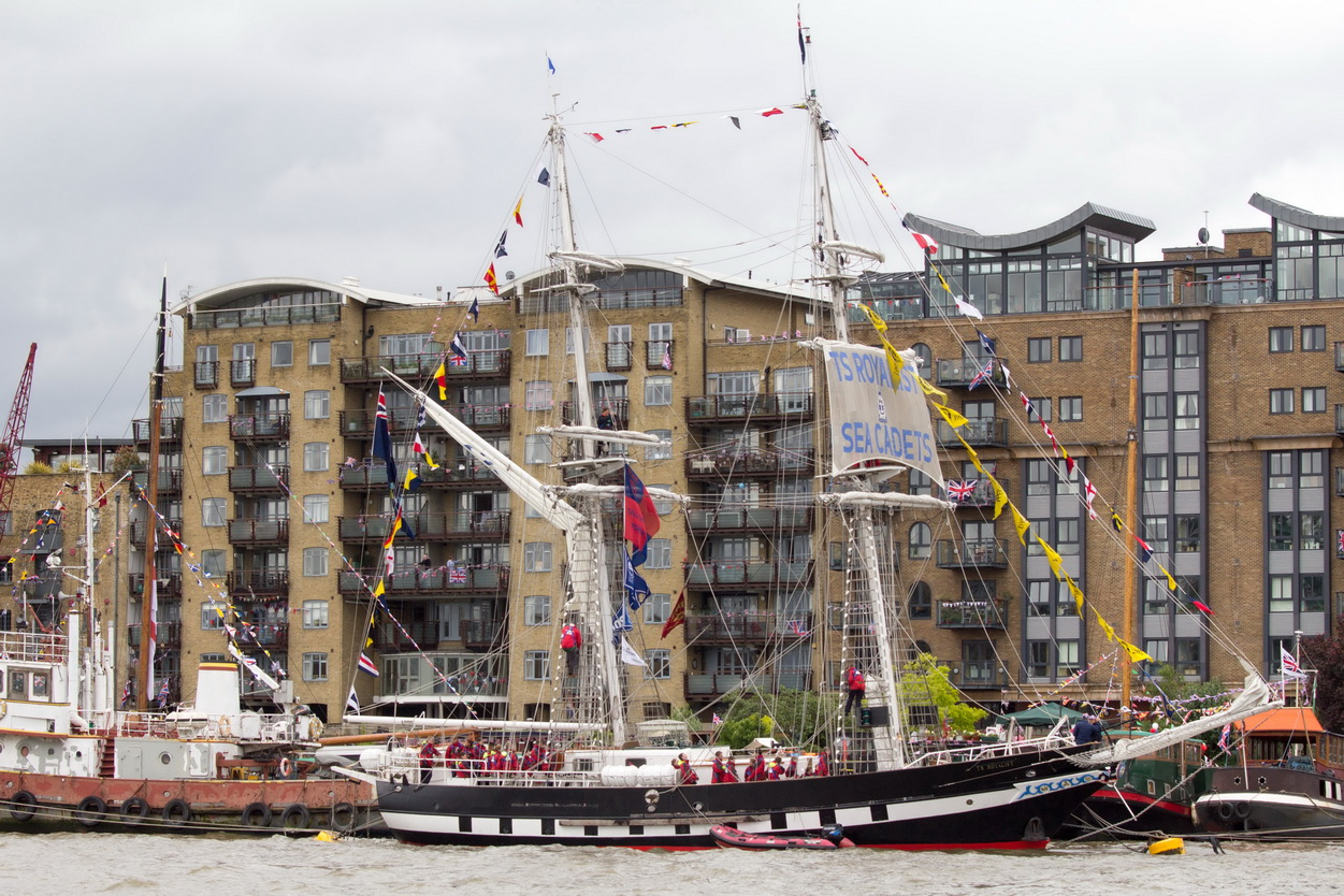The Thames is a regular destination for tall ships
